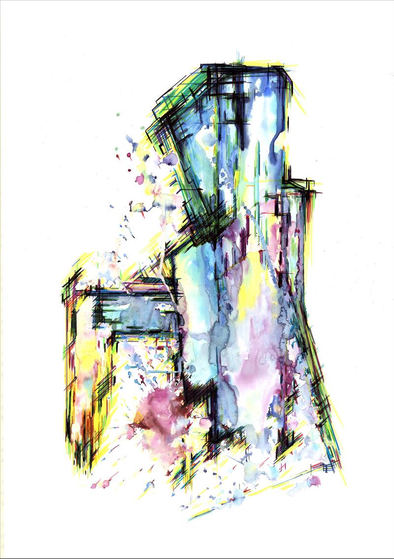 Malerei Abstrakte Aquarellmalerei
